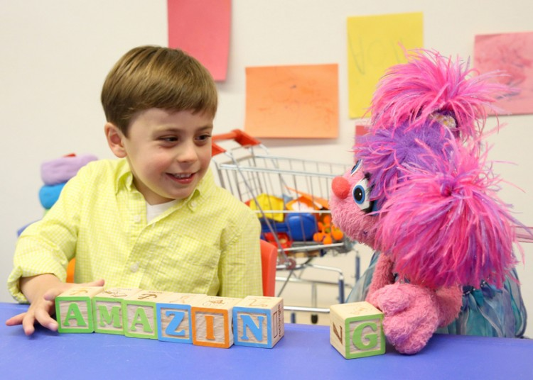 """Sesame Street"" character Abby Cadabby, right, is part of the new See Amazing in All Children campaign."
