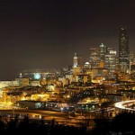Seattle panorama at night