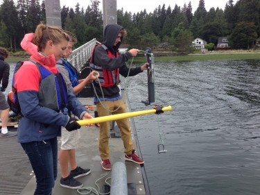 sampling for water in puget sound.