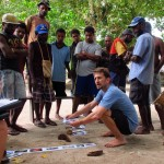 Joshua Cinner, at Australia's James Cook University, interviews fishermen in Papua New Guinea about adapting to changing social and environmental conditions.
