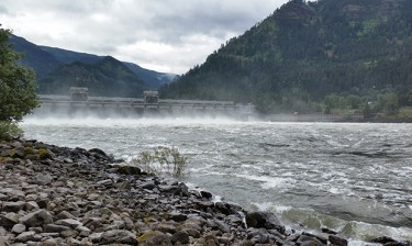 Below the Bonneville Dam on the Columbia River.