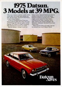 Photo of 1970s Datsun ad