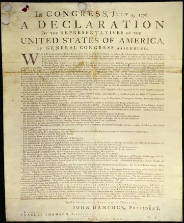 The latest installment of Information School professor Joe Janes' podcast series Documents that Changed the World discusses the 168 powerful words condemning slavery that were removed from the Declaration of Independence.