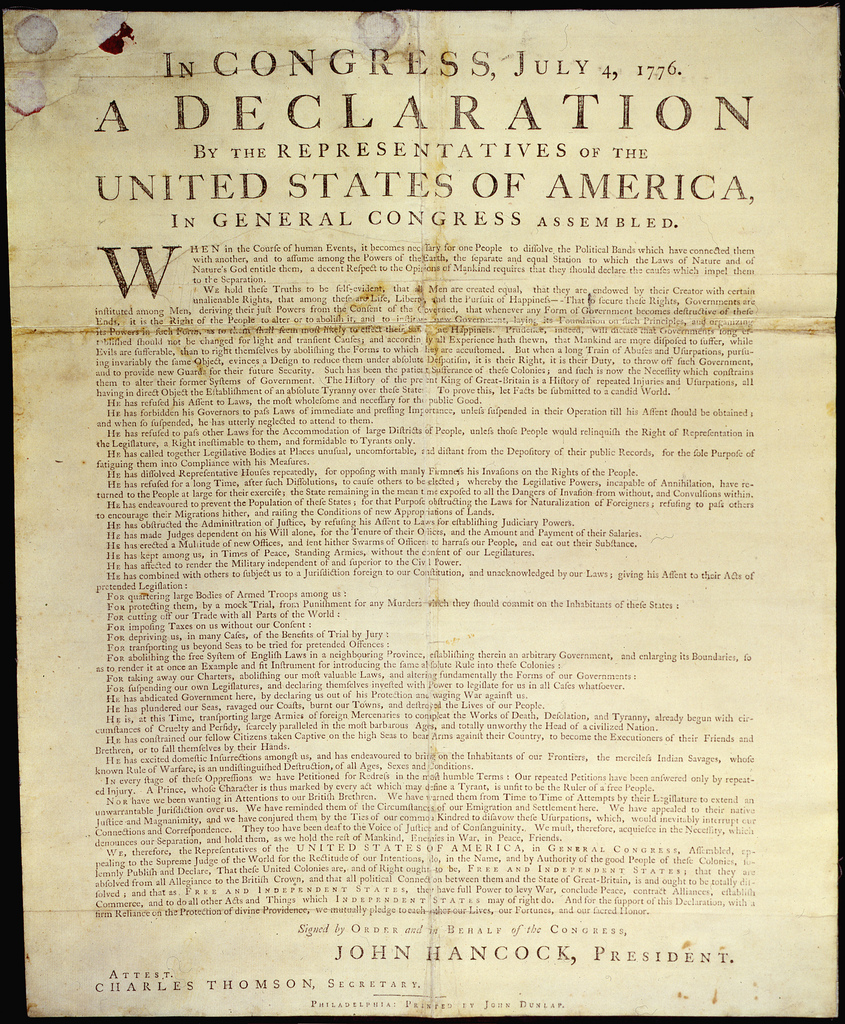 Documents That Changed The World The Declaration Of Independence S