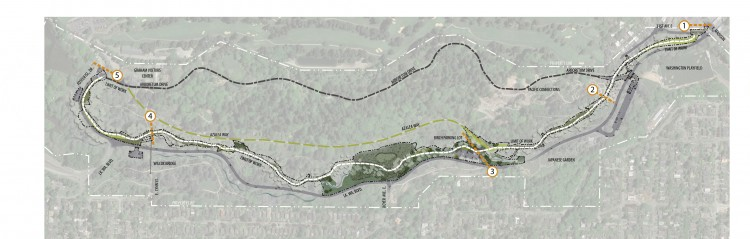 a map of the total loop trail.