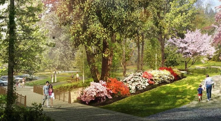 A conceptual image of the new trail.