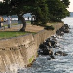 A seawall along Harbor Avenue Southwest in West Seattle.