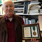 Jerry Franklin displaying his Pinchot Medallion award.