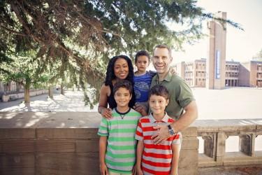 Amelia Gavin with twins Gavin, left and James Muhlfelder, son Ben Muhlfelder and husband Josh Muhlfelder.