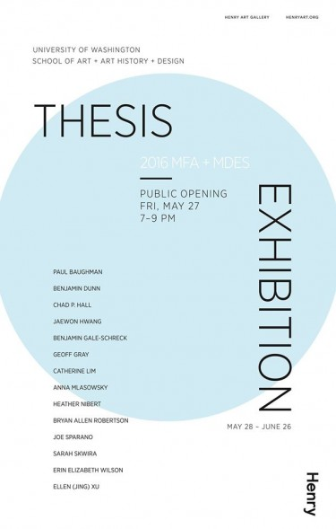 MFA+MDes Thesis Exhibition