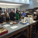 Visitors learn about UW Libraries' new Conservation Center, in Suzzallo Library, during an April Friends of the Library tour.