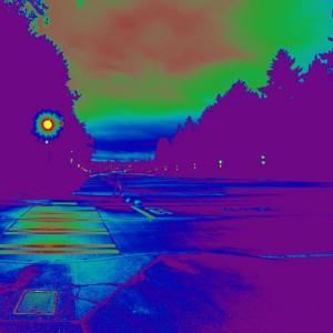 rainier vista as seen through a colorful HDR analysis