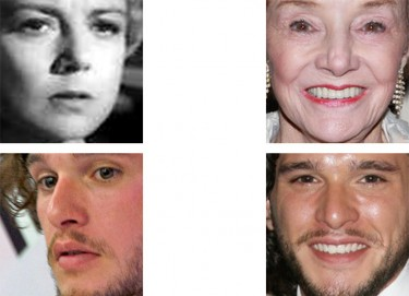 Images showing facial recognition matches