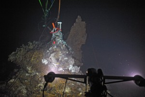 camera illuminating seafloor