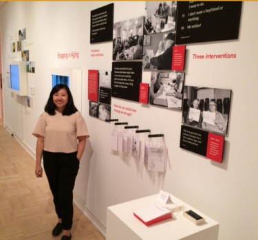 """Engaging with Aging,"" a design project by Catherine Lim. She worked with residents in a senior center to bring out their ideas on how to help social isolation, which residents of such facilities often feel. Part of the UW's MFA/M-Design thesis show at the Henry Art Gallery."
