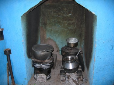 Photo of multiple stoves in use