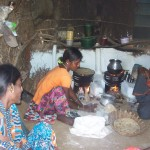 Photo of women using cookstoves in India