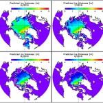 four maps of Arctic Ocean