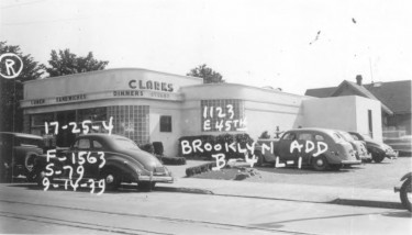Historic photo of Clarks Restaurant from 1939