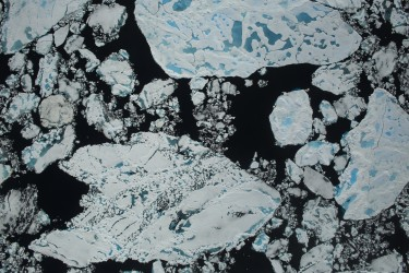 arctic sea ice from above