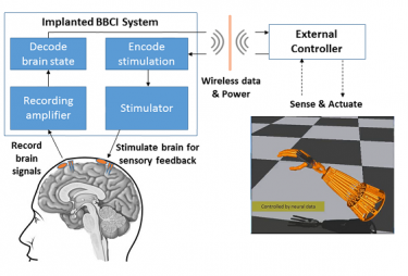 "The UW study is based on the concept of closed-loop ""bi-directional brain-computer interfaces"" (BBCIs) being developed at the CSNE. These devices can both record from and stimulate the nervous system to help restore movement and promote plasticity for rehabilitation."