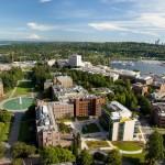 aerial of UW campus