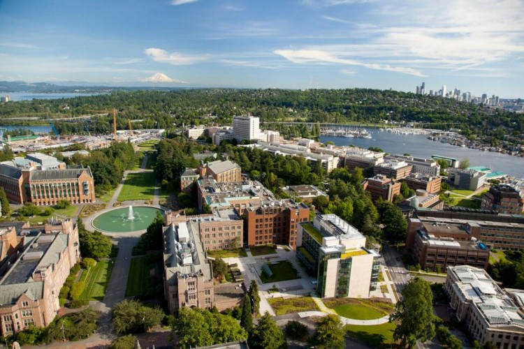 aerial of UW campus