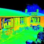 LIDAR scan of earthquake damaged home
