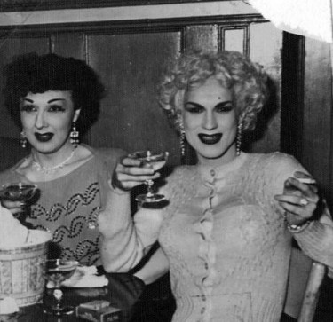 "At left is Jack Starr, a successful female impersonator whose stage name was Jackie Starr -- called ""the most beautiful man in America"" by gossip columnist Walter Winchell. At right is Billy DeVoe. It's 1950 and they are at the Garden of Allah, Seattle's first gay-owned and operated gay bar. This story is about a new digital collection -- the LGBTQ Activism in Seattle History Project that is part of the Seattle Civil Rights and Labor History Project"