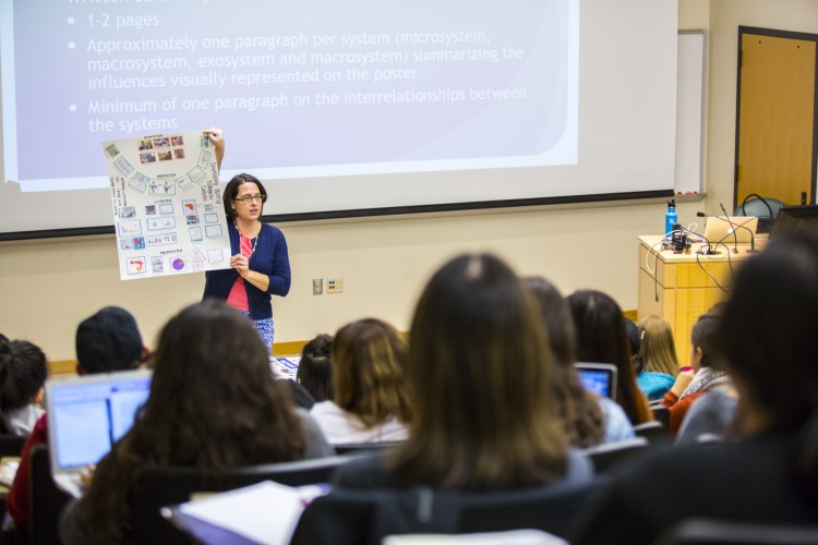 Cassady Glass Hastings, lead faculty member for the program, teaches a class.