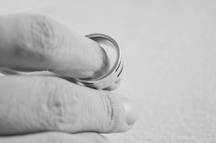 Hand with wedding ring