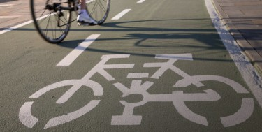 photo of bike lane