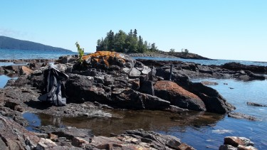"A 1.9-billion-year-old stromatolite — or mound made by microbes that lived shallow water — called the Gunflint Formation in northern Minnesota. The environment of the oxygen ""overshoot"" described in research by Michael Kipp, Eva Stüeken and Roger Buick may have included this sort of oxygen-rich setting that is suitable for complex life."