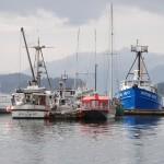 Fishing boats in Juneau, Alaska.