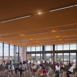rendering of Zillow Commons event space