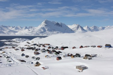 A Greenlandic community.