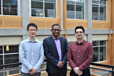 The UW electrical engineering research team includes Baicen Xiao, Radha Poovendran and Hossein Hosseini.