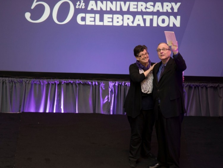 UW President Ana Mari Cauce and Paul G. Allen