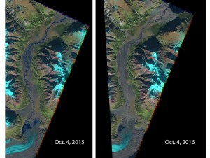 two satellite images