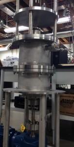 The reactor in the UW lab.