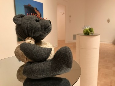 "Stuffed animals are adapted for voodoo use in Gavriella Aguilar's mixed media sculpture ""Pantheon: A Never Union."" Aguilar says of the voodoo, ""I'm not affecting anybody else. It's more about me looking for clarification."""
