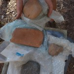 These three axeheads and a square grinding stone were among the finds at Madjedbebe. A team that included researchers from the University of Washington dated artifacts from the dig site in Australia's Northern Territory.