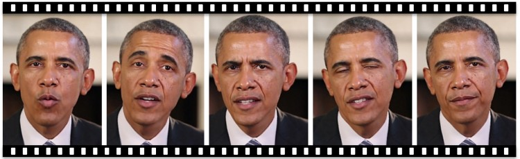 Reel of Obama photos