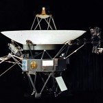 The Voyager spacecraft showcasing where the Golden Record is mounted.