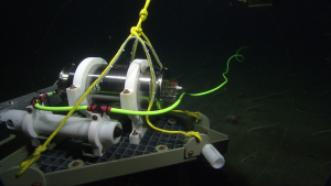 instrument on seafloor