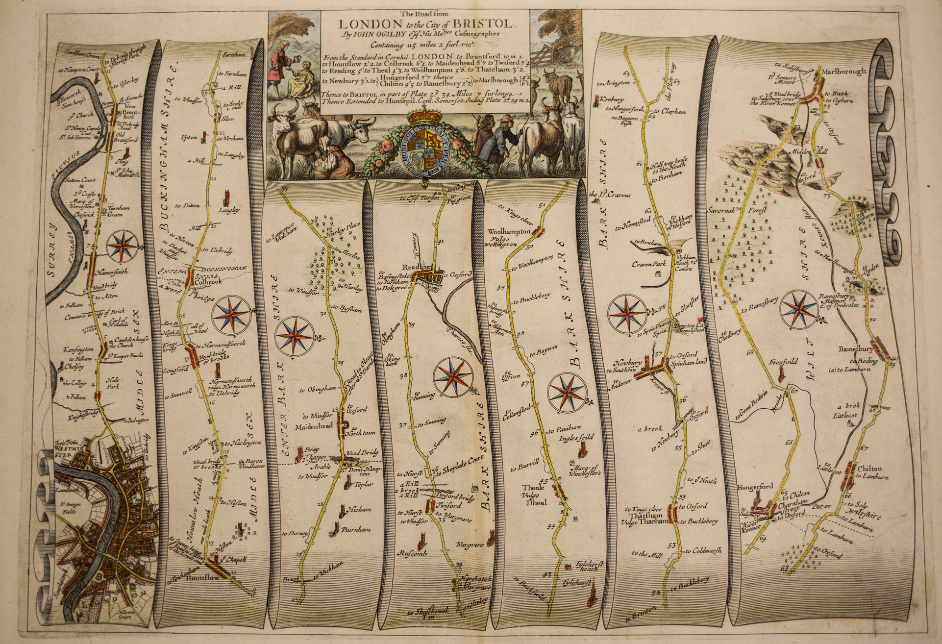 Map Over London.Vintage Maps Books And More In Uw Libraries Special Collections