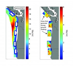 colored map of subduction zone