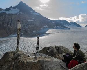 person on glacier