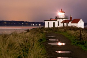 The Discovery Park lighthouse is a landmark at Seattle's largest park.