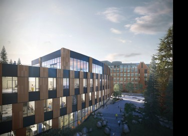 rendering of the Bill & Melinda Gates Center for Computer Science & Engineering